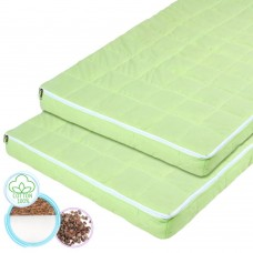 "Children's ortho-mattress ""Rainbow"" Coconut and Buckwheat light green 60х120 cm"