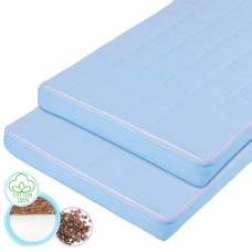 "Children's ortho-mattress ""Rainbow"" Coconut and Buckwheat blue 60х120 cm"