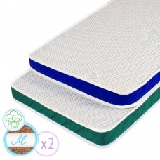 "Children's orthopedic mattress ""Twins M"" Coconut sandwich 60х120 cm"