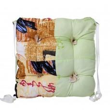 """Chair cushion with ties """"Classic"""" Homefort 40х40х2 см"""