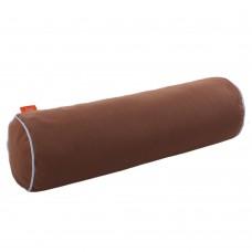 Подушка Валик с Гречневой шелухой Homefort (коричневый)