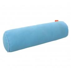Подушка Валик с Гречневой шелухой Homefort (голубой)