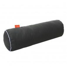 Подушка Валик с Гречневой шелухой Homefort (серый)