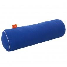 Подушка Валик с Гречневой шелухой Homefort (синий)