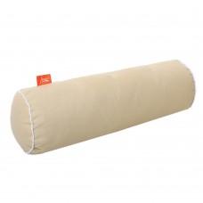 Подушка Валик с Гречневой шелухой Homefort (молочный)