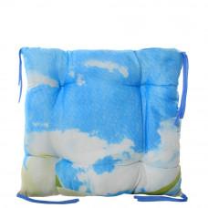 Подушка на стул с завязками «Классическая» Homefort 40х40х6 см (D-7)