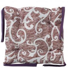 Подушка на стул с завязками «Классическая» Homefort 40х40х6 см (D-8)