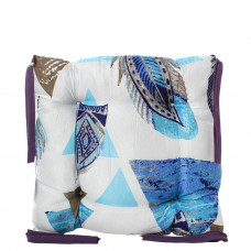 Подушка на стул с завязками «Классическая» Homefort 40х40х6 см (D-11)