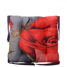 Подушка на стул с завязками «Классическая» Homefort 40х40х6 см (D-14)
