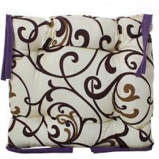 Подушка на стул с завязками «Классическая» Homefort 40х40х6 см (D-15)
