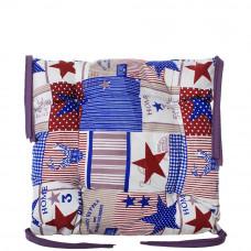 Подушка на стул с завязками «Классическая» Homefort 40х40х6 см (D-19)